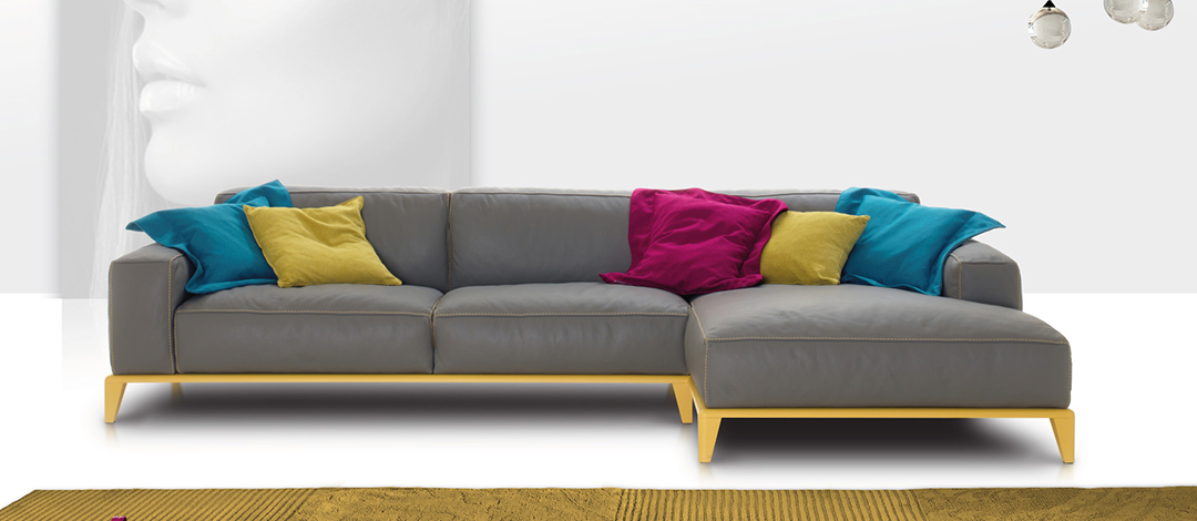 modern colorful sofa