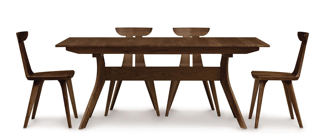 Solid Walnut Extension Dining Table