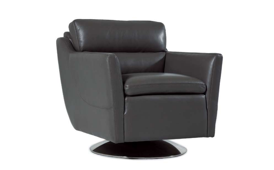 Clio Leather Swivel Chair