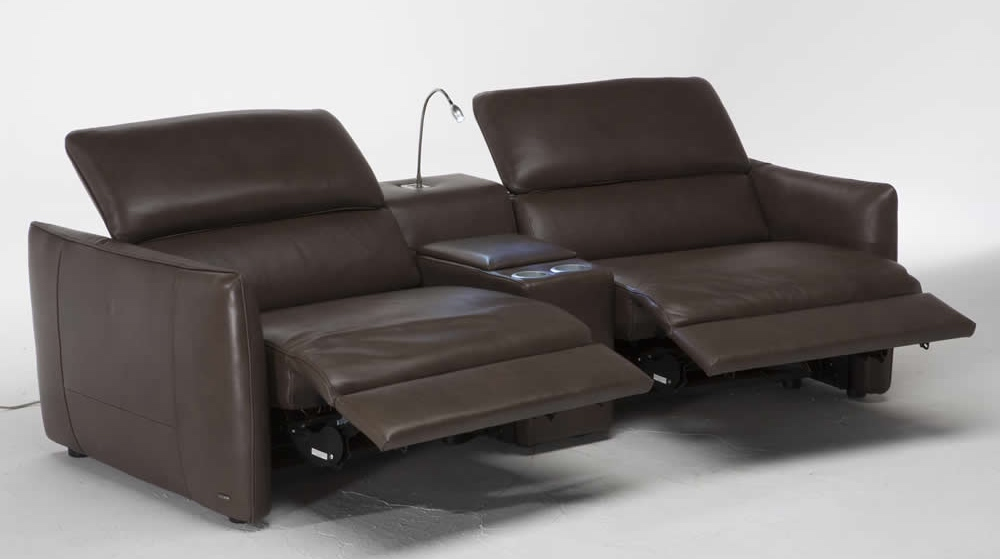 Contemporary Leather Recliner Sofa Reclining Sofas Manual Recliner Couches - TheSofa