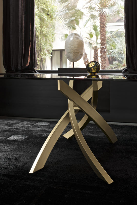 Gold Dining Table Base